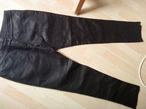 schwarze Lederhose von Denim &co Größe 42