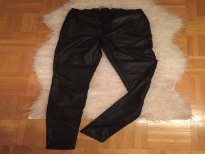 Schwarze Lederhose von Only