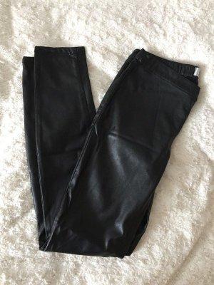Schwarze Lederhose von Only Neu Große M