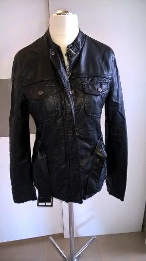 schwarze Lederimitat-Jacke von Orsay