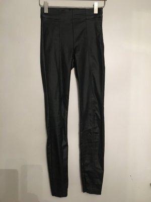 Schwarze Lederimitat Leggings von Zara