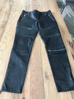schwarze Lederimitatshose von Zara Gr.M