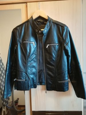 Amisu Leather Jacket black imitation leather