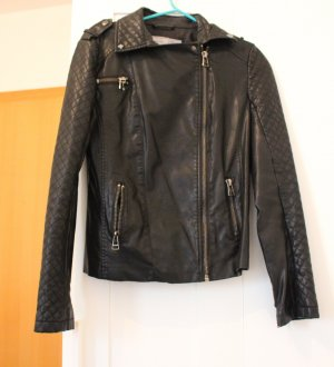 17&co Leather Jacket black