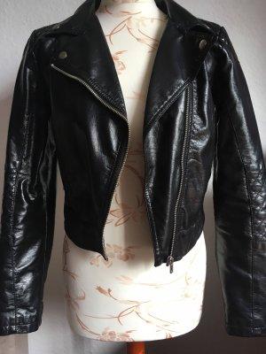 H&M Biker Jacket black-silver-colored