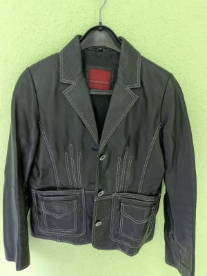 David Moore Leather Jacket black