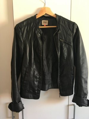 Only Faux Leather Jacket black