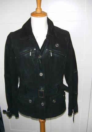 schwarze Lederjacke, echtes Leder, Jacke, Cecil, Gr. L