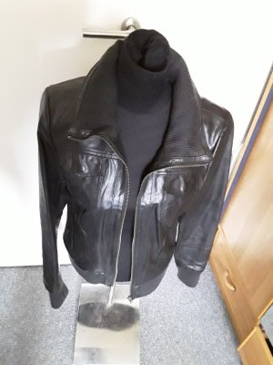 schwarze Lederjacke - Only - Large - Venezia Leather Jacket