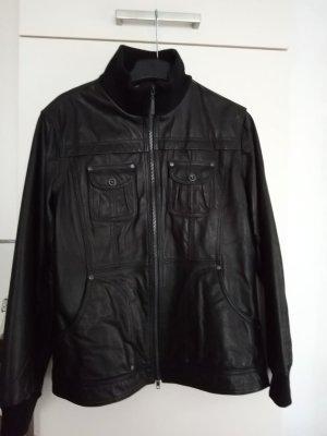 Schwarze Lederjacke von Cecil
