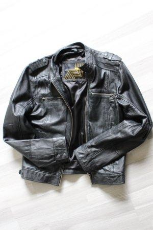 Schwarze Lederjacke von Enjoy - Größe M