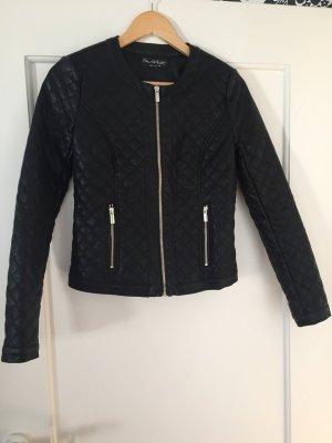 Schwarze Lederjacke von Miss Selfridge