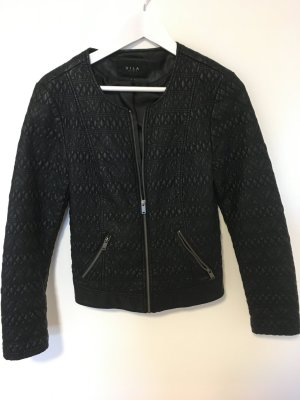 Vila Leather Jacket black