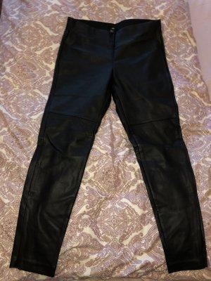 H&M Pantalón de cuero negro