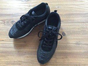 Zara Sneakers zwart Leer