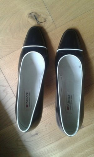 Fabiani Business Shoes black-white leather