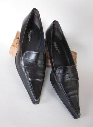 Schwarze Lederschuhe von Paul Green, Grösse 39