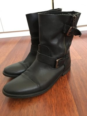 Görtz 17 Biker Boots black leather