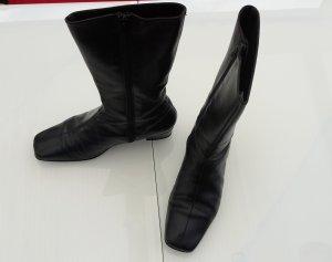 schwarze Lederstiefel Gr. 37