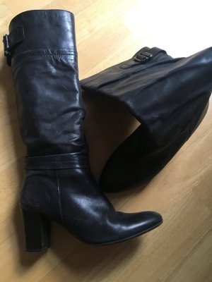 Jackboots black leather