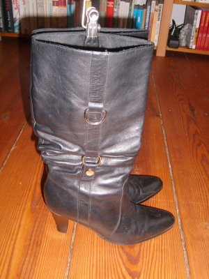 Buffalo Wide Calf Boots black leather
