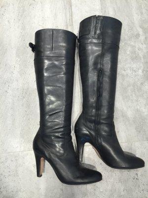 Schwarze Lederstiefel mit Schnalle von Buffalo Größe 39