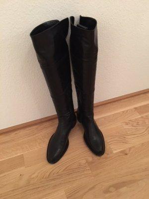Schwarze Lederstiefel Overknee von Malvin & Hamilton