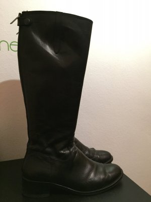 Schwarze Lederstiefel von Objects in Mirror