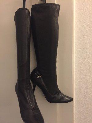 Schwarze Lederstiefel von PRADA