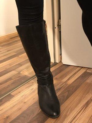 schwarze Lederstiefel von Varese