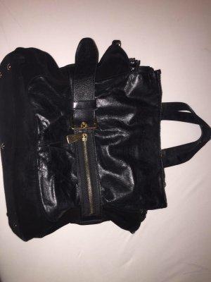 Schwarze ledertasche,........