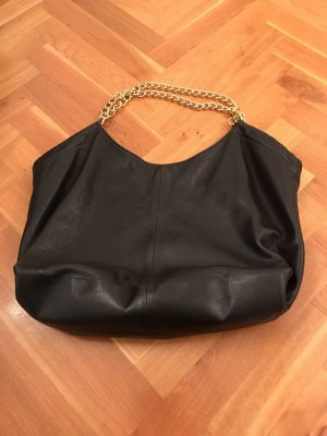 Vera Pelle Pouch Bag black-gold-colored