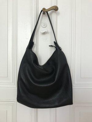 Schwarze Ledertasche zum Umhängen von Coccinelle