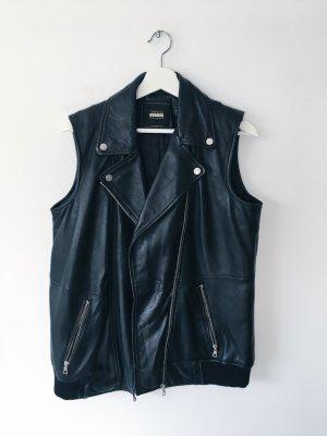 Zara Trafaluc Leather Vest black polyester