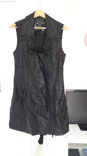 Schwarze Lederweste Lederkleid von Soccx Größe 36