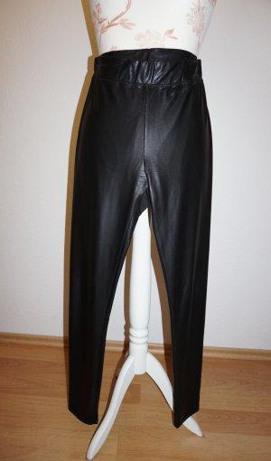 schwarze Leggings in Lederoptik, Glanzoptik von Pimkie