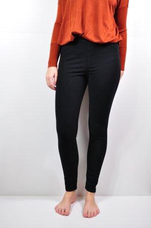 Schwarze Leggings / Jeggings aus festem Stoff mit zwei Taschen hinten