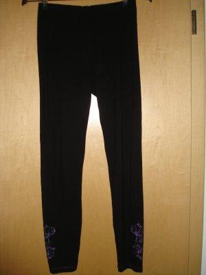 Biba Leggings black-lilac viscose