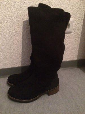 schwarze leicht gefütterte Stiefel von Graceland - Gr. 38
