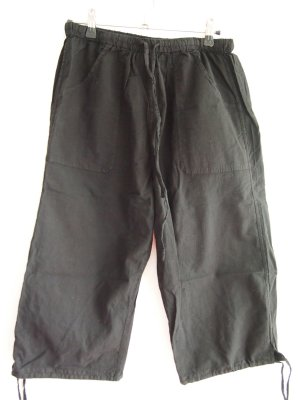 3/4 Length Trousers black cotton