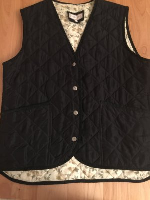 Gewatteerd vest zwart-wit