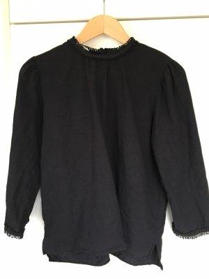 Zara Blusa de lino negro