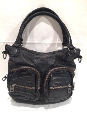 Schwarze Liebeskind Handtasche aus Leder