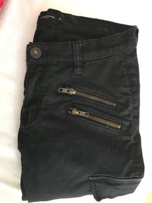 schwarze Liebeskind Jeans schwarz used-look