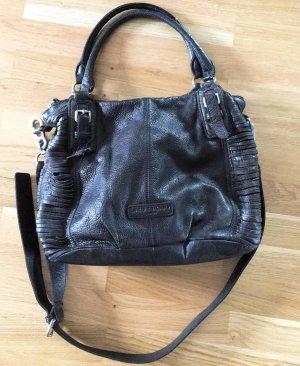 Schwarze Liebeskind Lederhandtasche