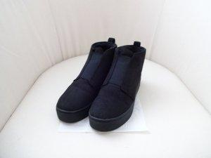 schwarze loafer Boots gefüttert