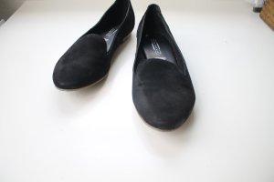 Schwarze Loafers auf Echtleder!