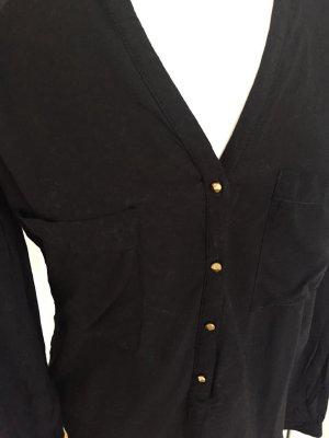 Schwarze lockere Bluse