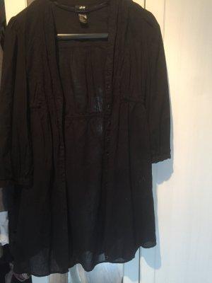 Schwarze Longbluse