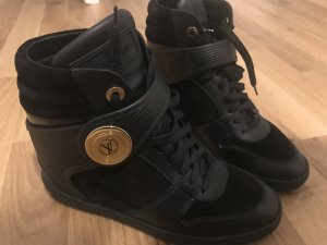 Schwarze Louis Vuitton Keilabsatz Sneakers